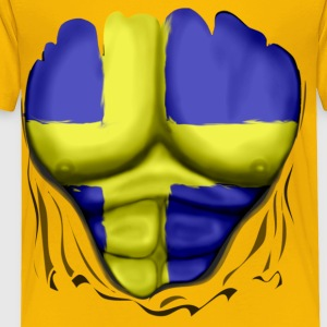 Sweden Flag Ripped Muscles, six pack, chest t-shirt - Toddler Premium T-Shirt