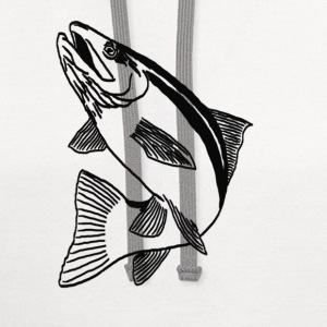 Trout Fish T-Shirts - Contrast Hoodie