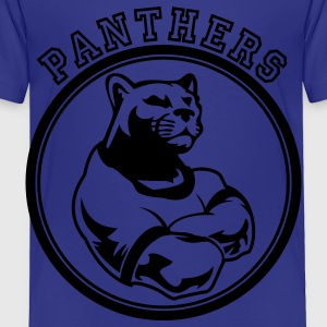 Custom Sports Panthers Mascot for Teams Kids' Shirts - Toddler Premium T-Shirt