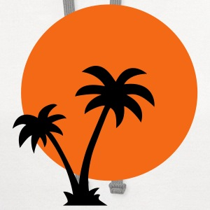 Palm trees and sun - Contrast Hoodie