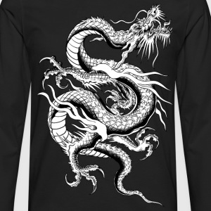 Chinese Dragon ( HD Pixel Design ) - Men's Premium Long Sleeve T-Shirt