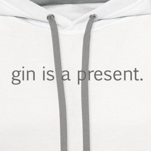 gin is a present - Contrast Hoodie