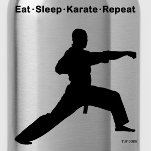 Eat Sleep Karate Repeat T-Shirts - Water Bottle