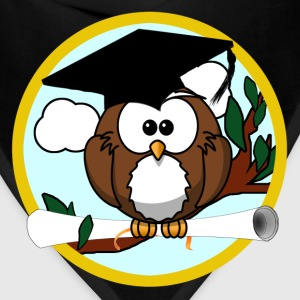 Cute Cartoon Owl with Graduation Cap and Diploma - Bandana