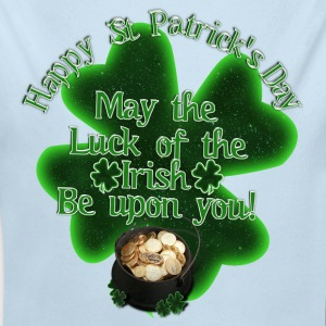 Happy St Patrick's Day - Pot of Gold - Long Sleeve Baby Bodysuit