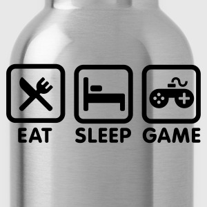Eat sleep game Kids' Shirts - Water Bottle