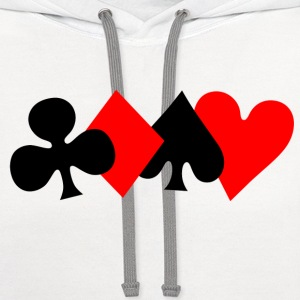 Poker T-Shirts - Contrast Hoodie