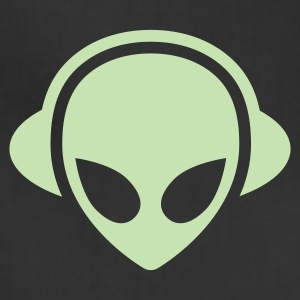 Alien headphones Glow in the dark T-Shirts - Adjustable Apron