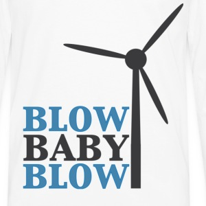 Blow Baby Blow Wind Turbine T-Shirts - Men's Premium Long Sleeve T-Shirt