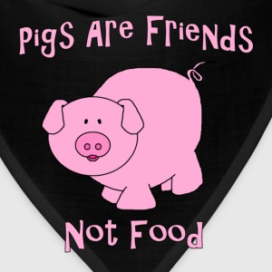 Pigs Are Friends Not Food T-Shirts - Bandana