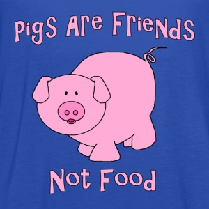 Pigs Are Friends Not Food T-Shirts - Women's Flowy Tank Top by Bella