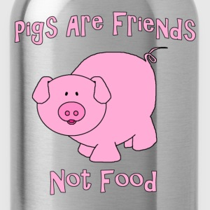 Pigs Are Friends Not Food T-Shirts - Water Bottle
