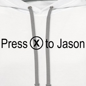 Press x to Jason - Contrast Hoodie