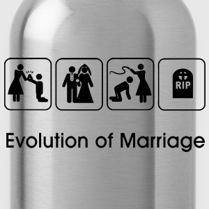 Evolution of Marriage T-Shirts - Water Bottle