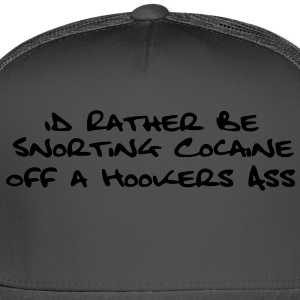 Snorting Cocaine T-Shirts - Trucker Cap