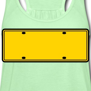 simple 2 color blank licence plate T-Shirts - Women's Flowy Tank Top by Bella