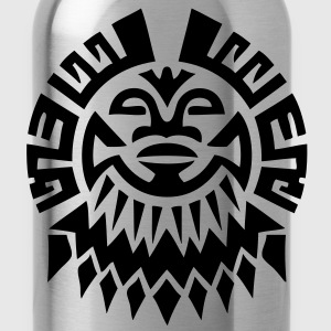 $ Mayan Tribal Face VECTOR T-Shirts - Water Bottle