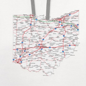 ohio road map - Contrast Hoodie