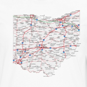 ohio road map - Men's Premium Long Sleeve T-Shirt