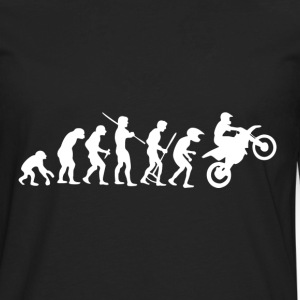 Motorcycle Rider Evolution Cross - Men's Premium Long Sleeve T-Shirt