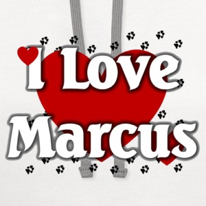 I love marcus - Contrast Hoodie