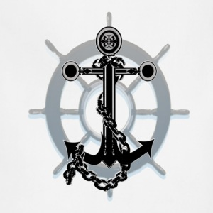 Anchor and Ship wheel - Adjustable Apron