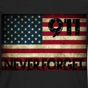 Grunge US Flag 911 T-Shirts - Men's Premium Long Sleeve T-Shirt