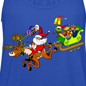 Santa's Gift Delivery with a Slingshot Kids' Shirts - Women's Flowy Tank Top by Bella