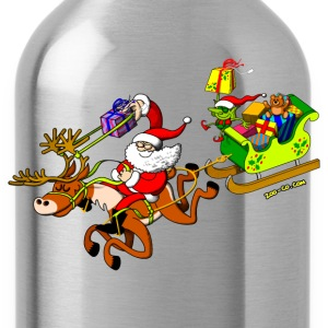 Santa's Gift Delivery with a Slingshot Kids' Shirts - Water Bottle