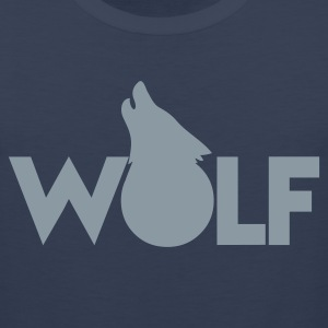 moon WOLF wolves howling design T-Shirts - Men's Premium Tank