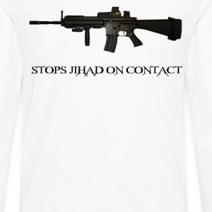 Stops Jihad on Contact M4 T-Shirts - Men's Premium Long Sleeve T-Shirt
