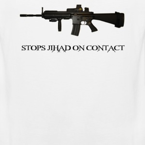 Stops Jihad on Contact M4 T-Shirts - Men's Premium Tank