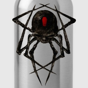 Black Widow Spyder Skull T-Shirts - Water Bottle