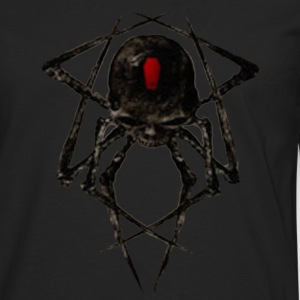 Black Widow Spyder Skull T-Shirts - Men's Premium Long Sleeve T-Shirt
