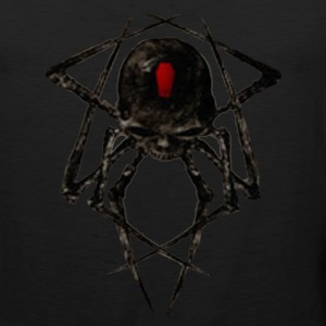 Black Widow Spyder Skull T-Shirts - Men's Premium Tank