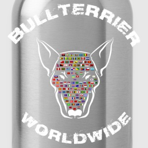 Bullterrier Worldwide Flags T-Shirts - Water Bottle