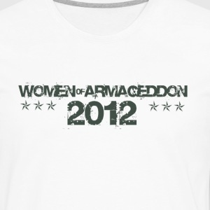 Women of Armageddon Logo - Militia Green T-Shirts - Men's Premium Long Sleeve T-Shirt