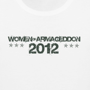 Women of Armageddon Logo - Militia Green T-Shirts - Men's Premium Tank