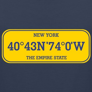 new_york_licence_plate T-Shirts - Men's Premium Tank