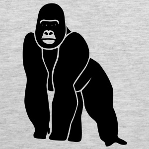 animal t-shirt gorilla ape monkey king kong godzilla silver back orang utan T-Shirts - Men's Premium Tank