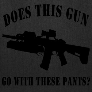 Does this Gun go with these pants? - Tote Bag