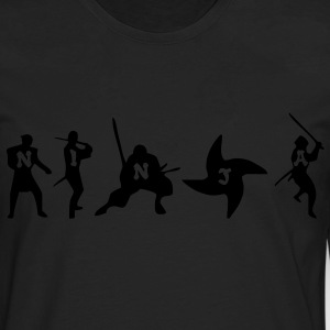 Ninja HD VECTOR T-Shirts - Men's Premium Long Sleeve T-Shirt