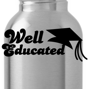 well educated with mortar board graduation T-Shirts - Water Bottle