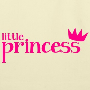 little princess with cute little  crown Kids' Shirts - Eco-Friendly Cotton Tote