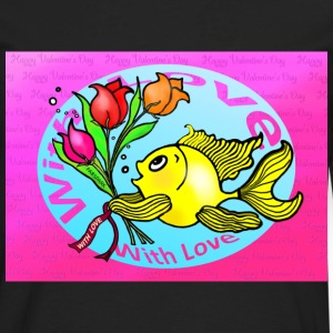 Valentine Day Fish - Men's Premium Long Sleeve T-Shirt