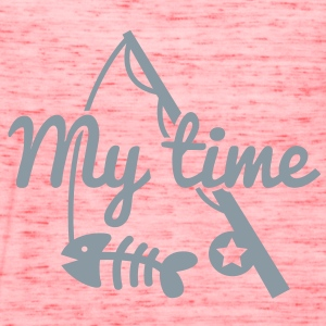 MY TIME fishing rod with Fish bones T-Shirts - Women's Flowy Tank Top by Bella