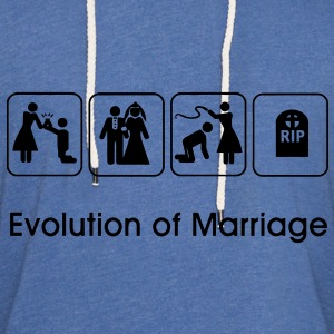 Evolution of Marriage T-Shirts - Unisex Lightweight Terry Hoodie