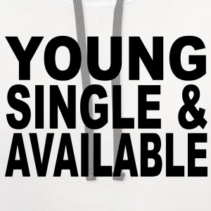 young single available T-Shirts - Contrast Hoodie