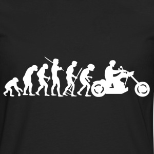 Motorcycle Rider Evolution Chopper Cruiser - Men's Premium Long Sleeve T-Shirt