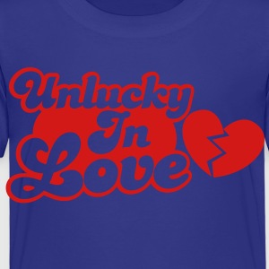 Unlucky in Love with a broken heart Kids' Shirts - Toddler Premium T-Shirt